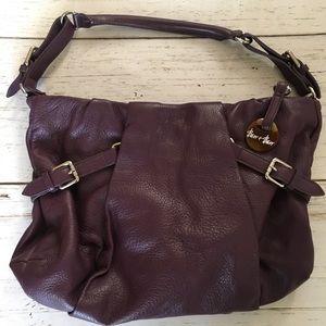 Handbags - Barr+Barr New York Purple Leather Handbag